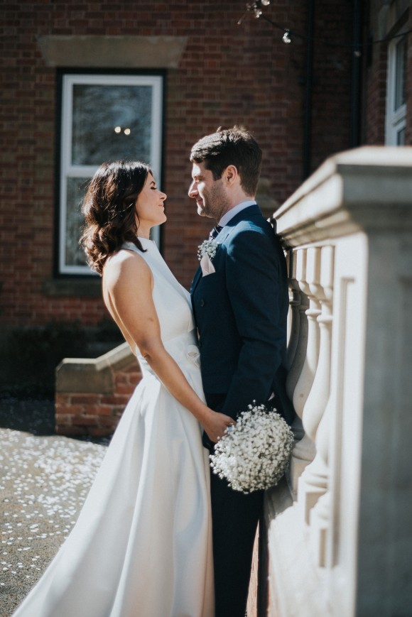 modern elegance: jesus peiro for a blush & white wedding at ashfield house, lancashire – nicola & richard