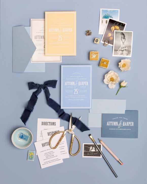 put your own stamp on it: personalised paper goods by basic invite