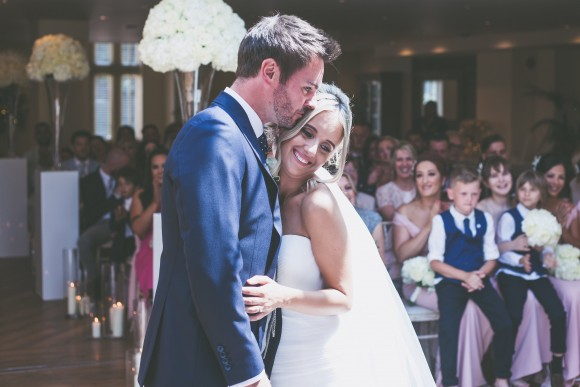 loved up. pronovias for an elegant white & blush wedding at mitton hall: melisa & danny