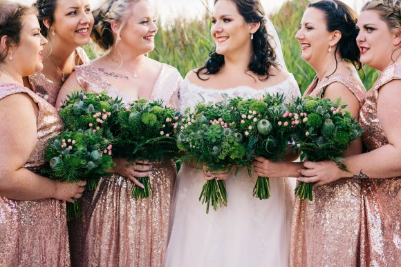 sequins & succulents for a botanical wedding at forrest hills – leanne & phil