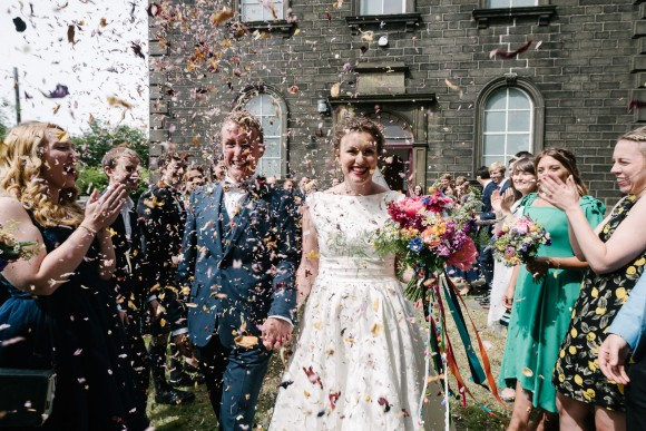 i believe in a thing called love. colour & confetti for a diy wedding in hebden bridge – maddy & mike