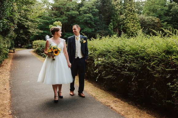 sunflowers & smiles. a relaxed wedding at the bowdon rooms, cheshire – amy & chris