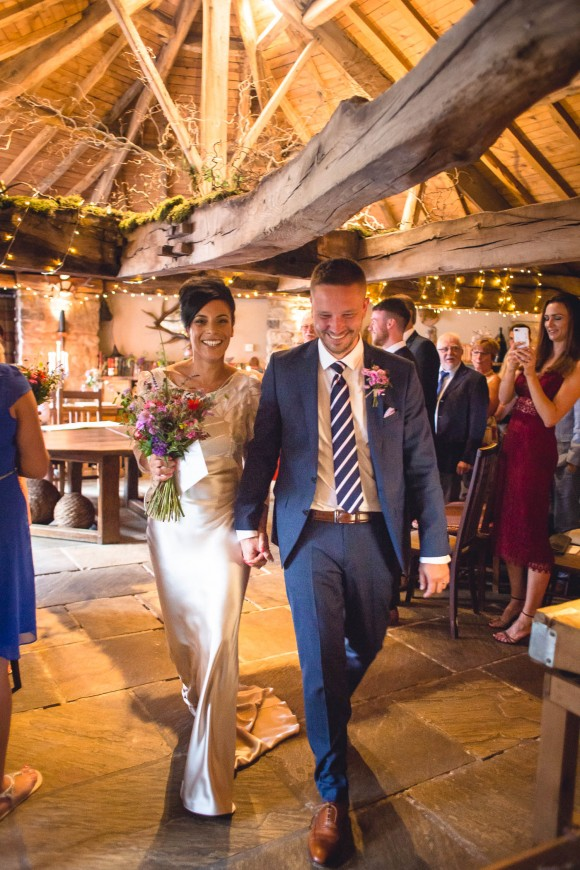 wild flowers & fairy lights for a vintage wedding in north yorkshire – natalie & james