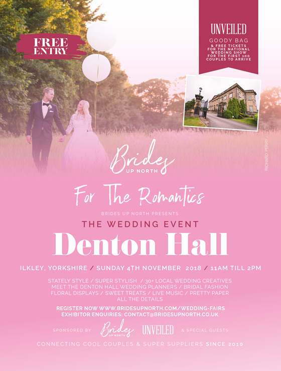 this sunday: it's the wedding event at denton hall!