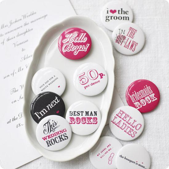 Wedding Favour Badges