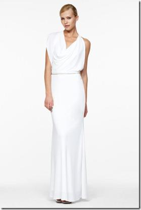 BCBG Draped Cowl Neck Dress
