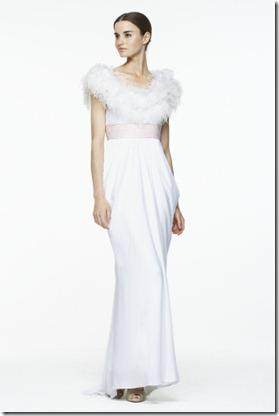 BCGB Draped Feather Embellished Gown