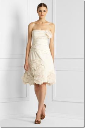 BCGB Floral Applique Strapless Dress