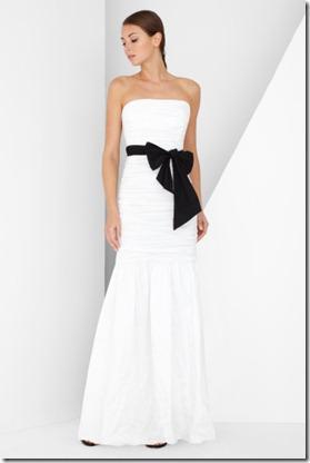 BCGB Strapless Taffeta Gown
