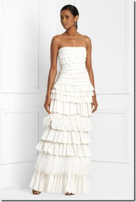 BCGB Tiered Strapless Gown