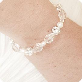CB Sylvia Vintage Pearl and Crystal Bridal Bracelet