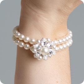 CB Vanessa Vintage Pearl Bridal Bracelet