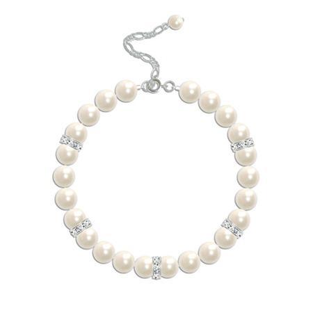 Crystal Elegance Pearl Bridal Bracelet