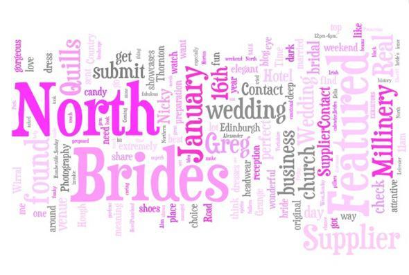 Brides Up North Word Cloud