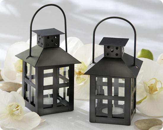 Kate Aspen Black Mini Lantern