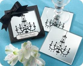 Kate Aspen Chandelier Mirrored Coasters