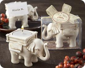 Kate Aspen Lucky Elephant Tea Light Holder