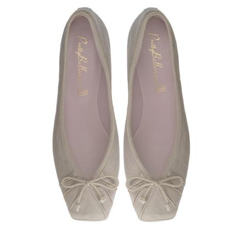 Pretty Ballerinas Champagne Leather