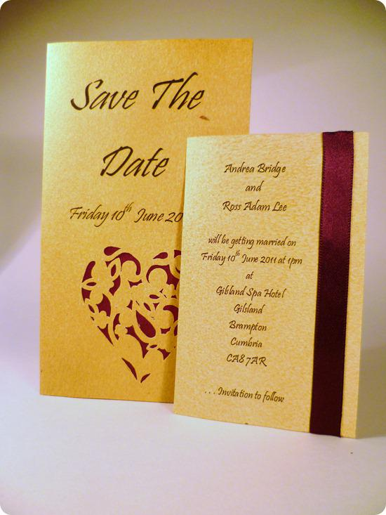 save the date wedding heart