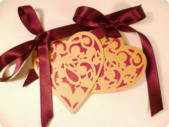 wedding heart collection gift tags