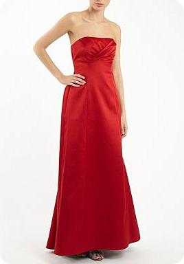 Debut Red Satin Ball Gown