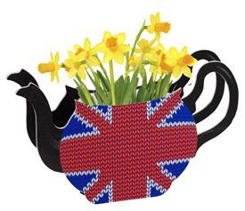 AATN British Street Party Tea Pot Vase