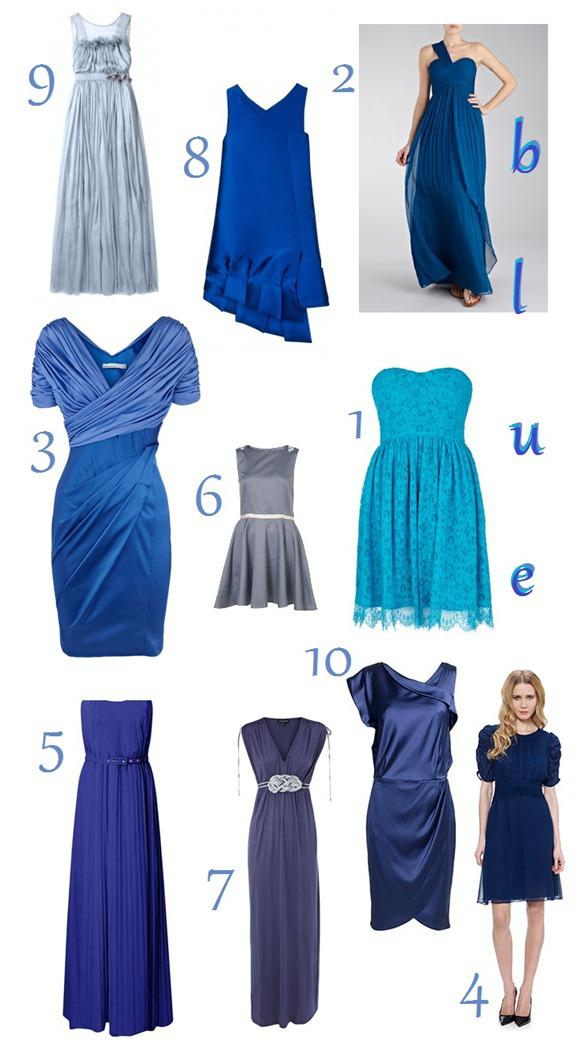 A Bridesmaid Rainbow: Blue