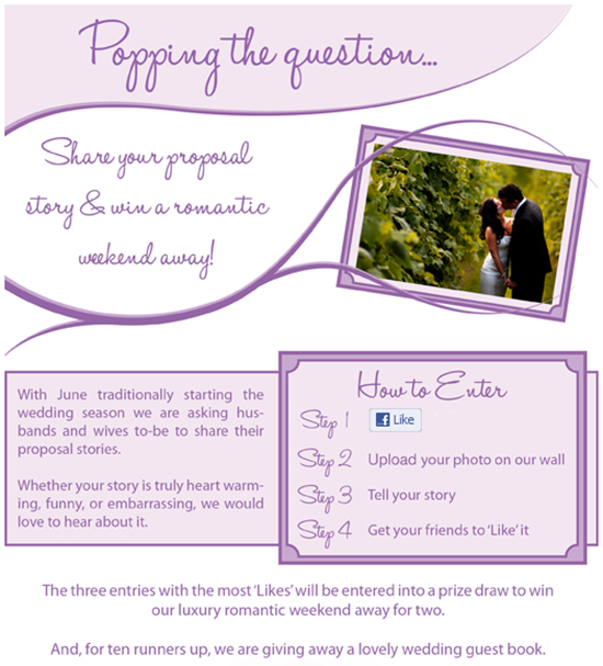 Brides Up North Wedding Blog: Bride & Groom Direct Facebook Contest