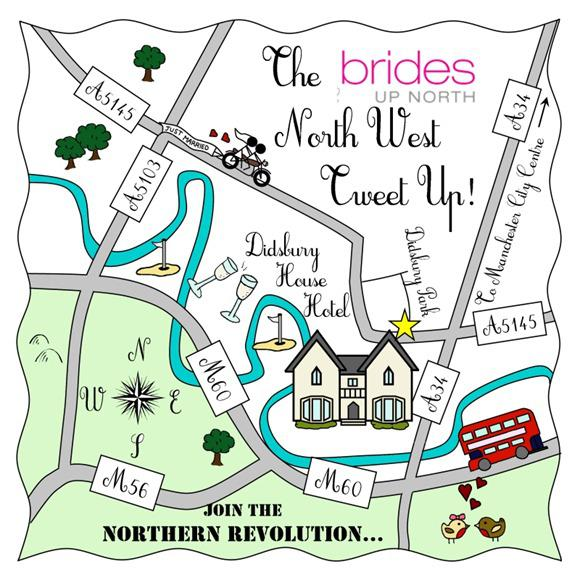 Brides Up North North West Cute Map
