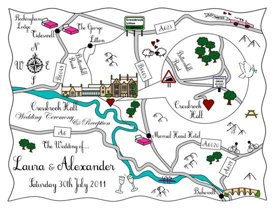 Brides Up North Wedding Blog: Cute Maps