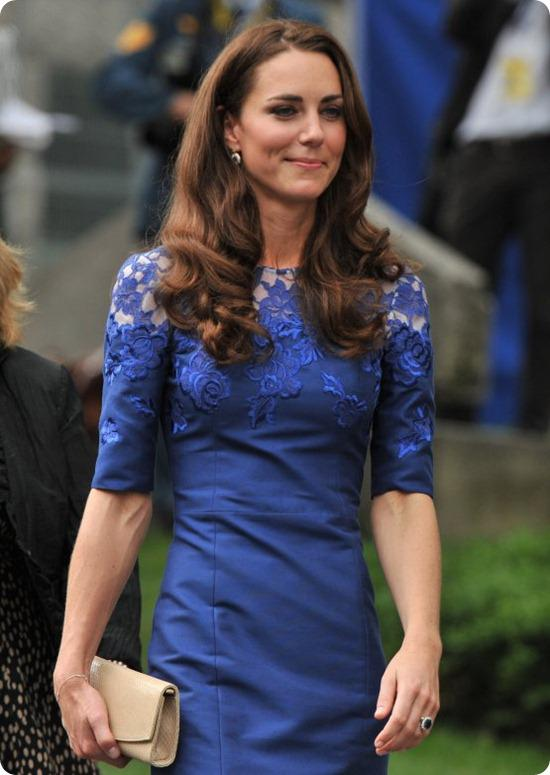 Brides Up North Wedding Blog: Kate Middleton Erdem Blue Lace Dress