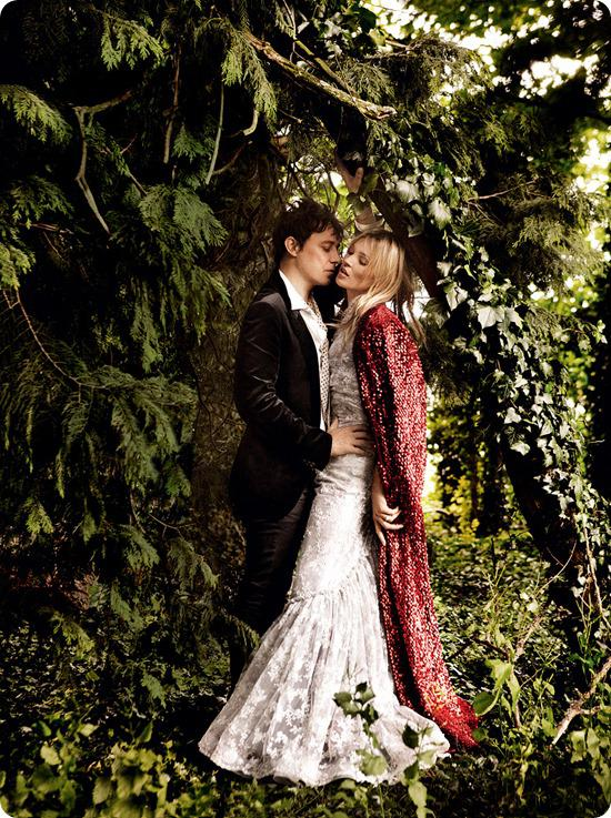 Kate Moss Wedding Photographs, By Mario Testino for American Vogue