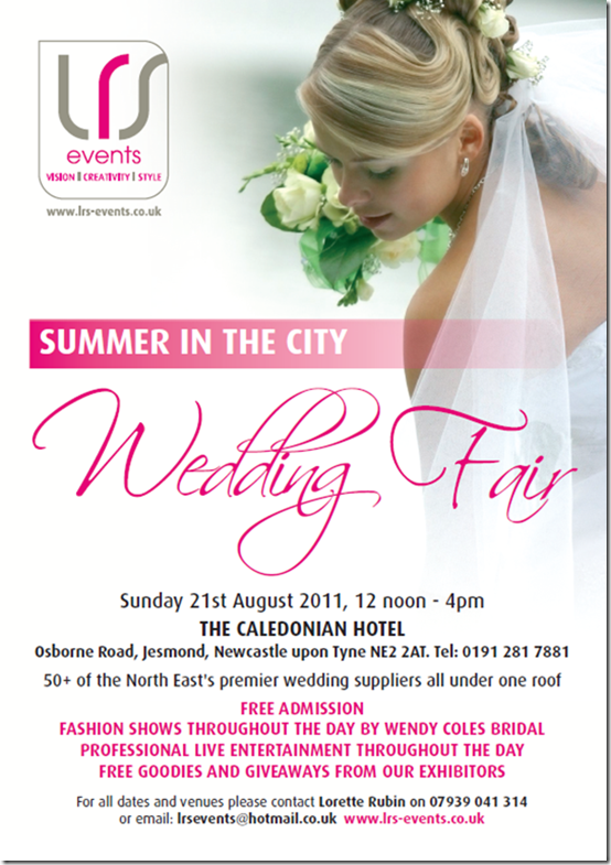 Brides Up North Wedding Blog: Summer In The City Wedding Fair 21 August 2011