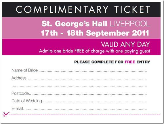 The UK Wedding Shows Liverpool Ticket