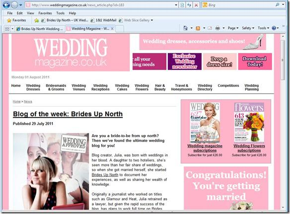 Brides Up North Wedding Blog: Wedding Magazine