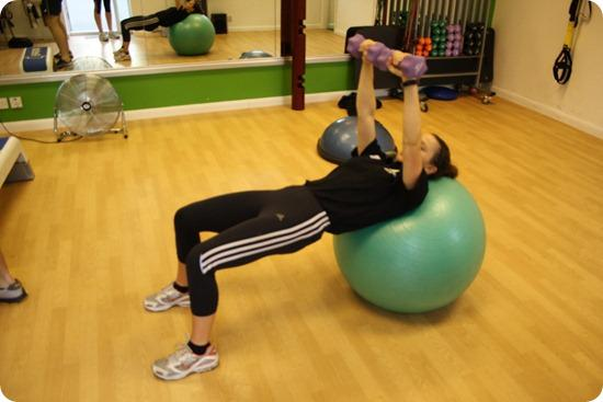 Brides Up North Wedding Blog: BOOTCAMP: Stability Ball Chest Press