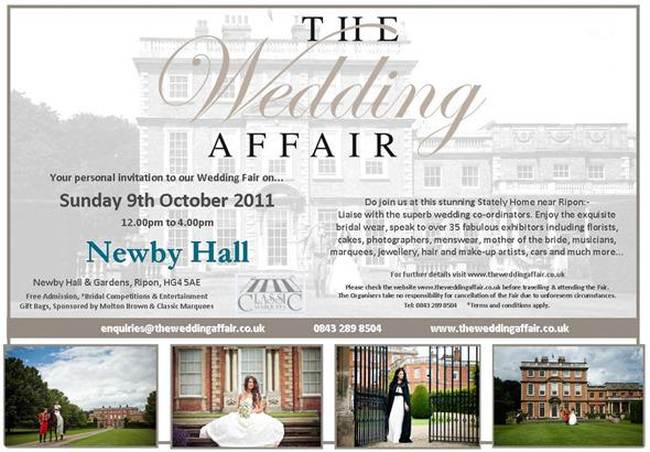 Brides Up North Wedding Blog: Invitation to Newby Hall Fair 9 October 2011