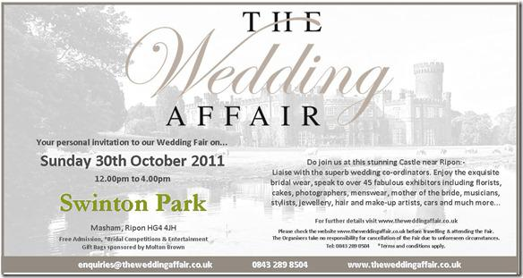 Brides Up North Wedding Blog:  Swinton Park & The Wedding Affair
