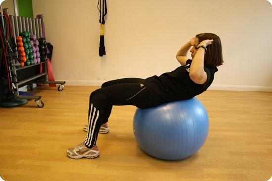 Brides Up North Wedding Blog: Stability Ball Crunch