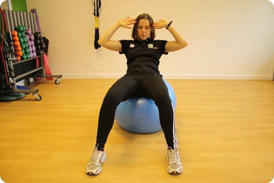 Brides Up North Wedding Blog: Stability Ball Oblique Crunch