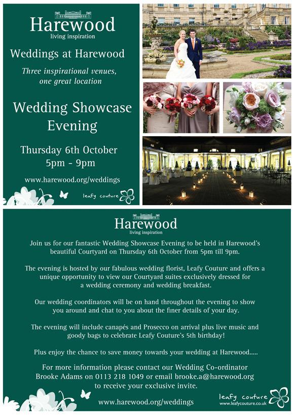 Brides Up North Wedding Blog: Harewood House Wedding Showcase Evening
